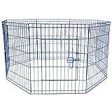 Jalano Welpenauslauf Welpengitter Laufstall für Hunde Katzen Hasen Zaun 8-teilig, Höhe:61 cm