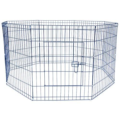 Jalano Welpenauslauf Welpengitter Laufstall für Hunde Katzen Hasen Zaun 8-teilig, Höhe:61 cm (Haus Hund Die Große Outdoor)