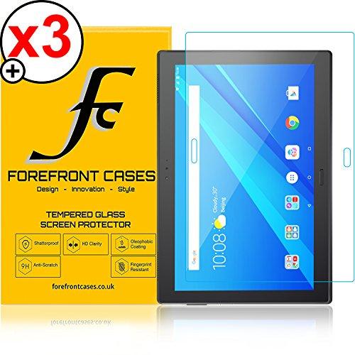 Forefront Cases Lenovo Tab 4 10 Plus/Lenovo Tab4 10 Plus [HD KLARHEIT] Gehärtetes Glas Panzerglas Folie Schutzfolie Screen Protector [Ultra DÜNN nur 0.3mm] (Packung mit 3)