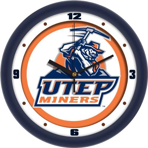 SunTime NCAA Unisex-Erwachsene Wanduhr, Unisex-Erwachsene Unisex Kinder Herren, Texas EL Paso Miners - Traditional Wall Clock, Traditional, Einheitsgröße
