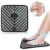 EMS Elektrisches Fußmassagegerät,Tragbare Massagematte Muskel-Stimulatior, Fußmassage zur Förderung der Durchblutung und Muskelschmerzen