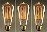 LOMT 40W Warm Rustic Dimmable Light Bulb With Squirrel Cage Style Filaments, Vintage Incandescent Edison E27 Electric Light, Create The Perfect Atmosphere For Bar Restaurant Coffee Shop And Home Use, Available in 1, 3, 6 and 12 Pack