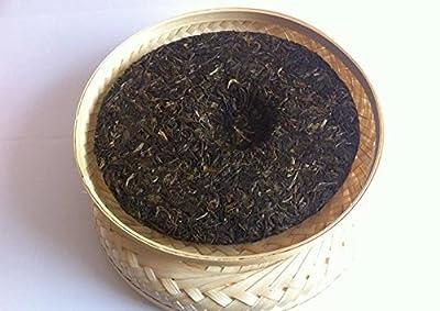 Pu erh thé noir, classe supérieure non fermentée 357 grammes gâteau au thé boîte en bambou emballage