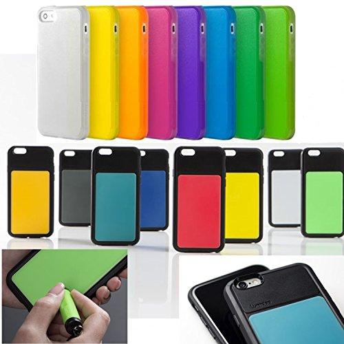 Schutzhülle für Apple iPhone 6/ 6S, Apple iPhone 5/5S, Apple iPhone 6 Plus/6+ Tasche Cover Case Bumper Schutz (Apple iPhone 6/6S, Schwarz-Grau) Schwarz-Gelb