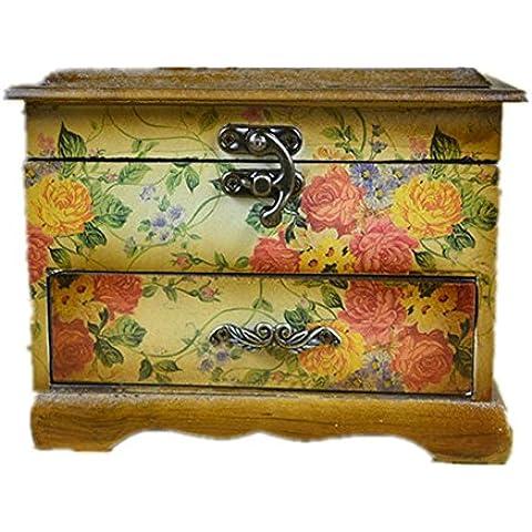 Annata classica con Bell doppio strato scatola Gioielli di stoccaggio o Retro Photo Display