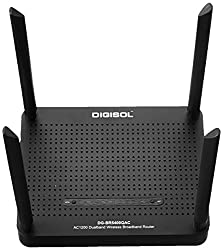 Digisol DG-BR5400QAC AC1200 Dual-Band Wireless Router (Black)
