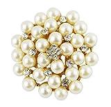 Wonvin Cinturino in Perle Modo di per Cappotto di Sciarpa del Maglione Oro 18K di Cristallo Placcato
