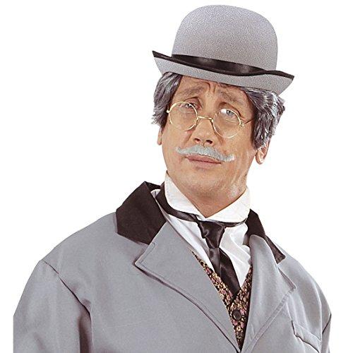 rren grau Klassischer Herrenhut Eleganter Filzhut Charlie Chaplin Faschingshut Melonenhut Männer (20er Jahre Mode Herren)