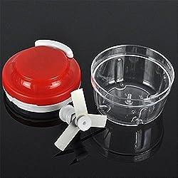 Pinkdose Red: Ezlife Multifunctional Household Hand Chopper Manual Rope Food Processor Silcer Shredder Salad Maker Cozinha Tool Lpt1421