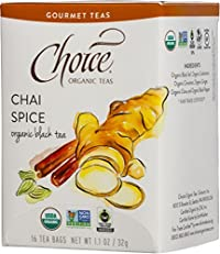 Choice Organic Teas Gourmet Spice Chai, 6 Count