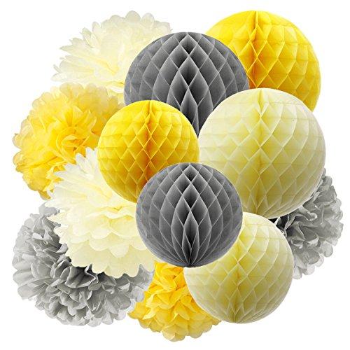 furuix-giallo-grigio-crema-tessuto-carta-a-nido-dape-palline-tessuto-carta-pom-pom-decorazioni-carta