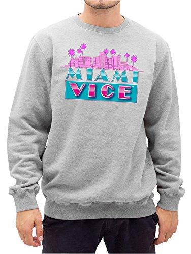 Miami Vice Skyline Sweater Grey Certified Freak-M