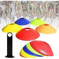 Sky de onda 50unidades.Conos delimitadores füßball/Mascotas Entrenamiento Marcar Plato Discos de Marcación (hütchen Pylonen con soporte