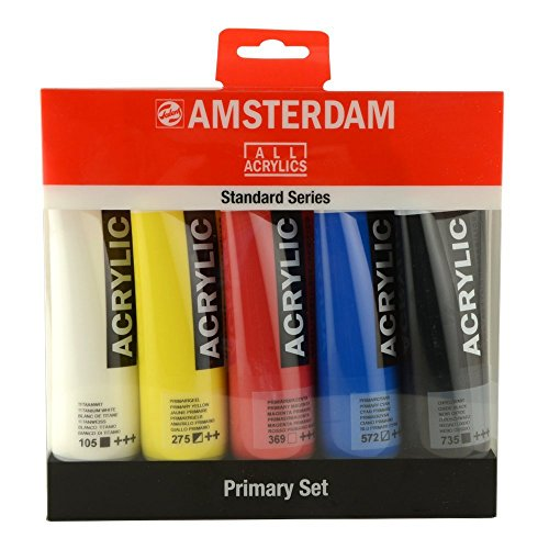 Amsterdam Acrylfarbe Standard Series Primary Set 5 x 120 ml -