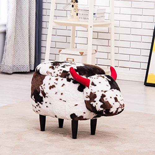 YGR dengzi Kinder Stuhl kreative Cartoon Kuh Modellierung weichen Stuhl Sofa Stuhl Hocker Kinder weichen Stuhl Hause Schuhe Bank Schuhe Bank (Design : B) - Kuh-stuhl