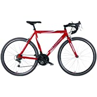 """Vitesse Sprint Mens' Road Bike Red, 22.5"""" inch alloy frame, 21 speed Shimano gearing handle-bar mounted rotational gear shifters"""