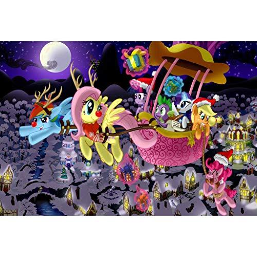 Unbekannt WYF Mein kleines Pony, Mädchen Geschenk Cartoon Puzzle 300,500,1000 Teile, Kinder Holz Schöne Rätsel P629 (Color : E, Size : 500pc) - Teile York 300 Puzzle New