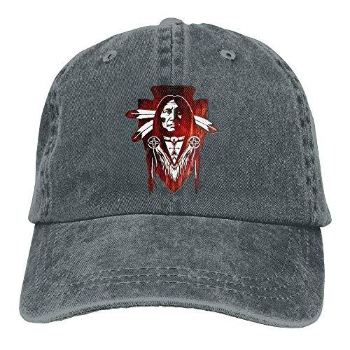 Aoliaoyudonggha Native American Denim Hat Adjustable Women Baseball Hats American Relish