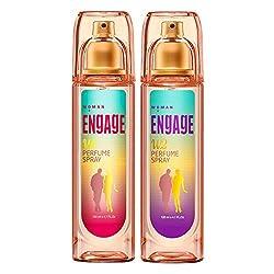 Engage Women Perfume Spray W1 & W2 COMBO 120 ML (Each 1)