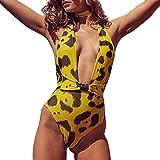 Jaminy Push-up-Pad Strandmode Bikini Set Frau Bikini Badeanzug Bikini Strandkleidung Bademode Badeanzug Bikini-Set Badeanzug (Gelb, S)