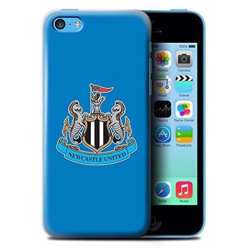 Officiel Newcastle United FC Coque / Etui pour Apple iPhone 5C / Mono/Blanc Design / NUFC Crête Football Collection Couleur/Bleu