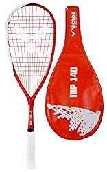Made from ultra hi-modulus graphite;Comes in a teardrop head shape;Head measures 503 cm2 size;Features lawntex stringing