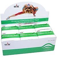 NASARA Kinesiologie Tape kinesiologische Tapes * grün * 5m x 50mm * Spenderbox (6er VE Umkarton) preisvergleich bei billige-tabletten.eu