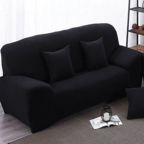 Funda para sofá 2plazas funda elástica para sofá pantalla Slip, Negro