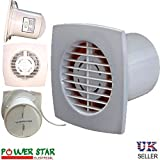 Slimline 100mm 4'' Ventilation Extractor PVC Kitchen Bathroom Wall Ceiling Fan