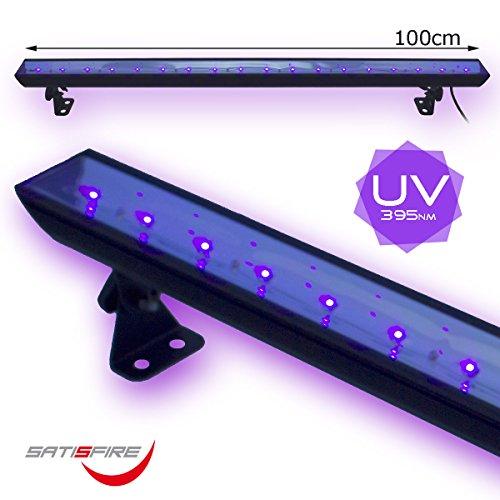 UV100 LED BAR, professionelle 100cm UV Bar, hohe Lichtleistung, perfekte Lichtverteilung, für Schwarzlichtparties, Dekoration oder Club/Bar mit UV-Licht | SATISFIRE