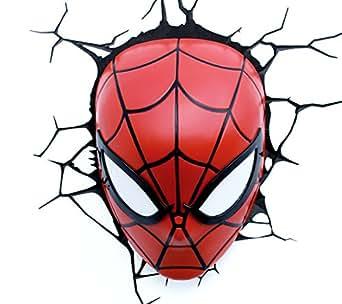 3D Light Fx 3DFX-12264 Spiderman Marvel Lampada LED 3D, Plastica, Multicolore