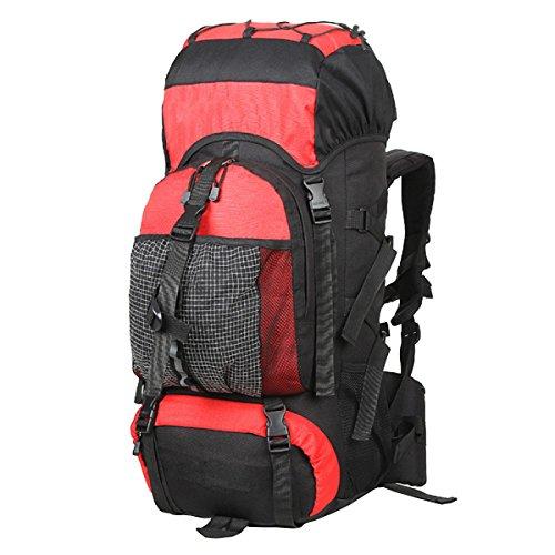 TUOZA Mens Im Freien Bergsteigen Wasserdicht Freizeit Rucksack Red
