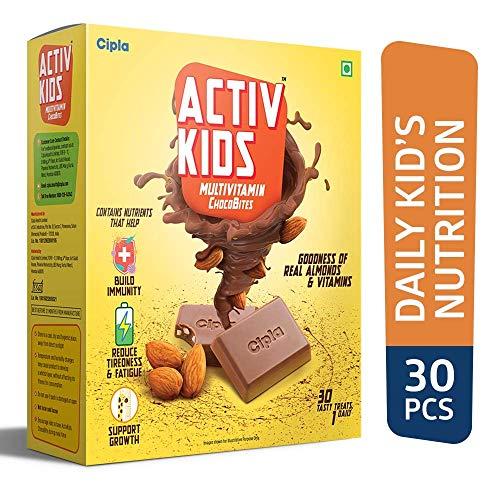 Cipla Activkids Multivitamin Chocobites For Kids' Nutrition- 240 g - (30 Counts)