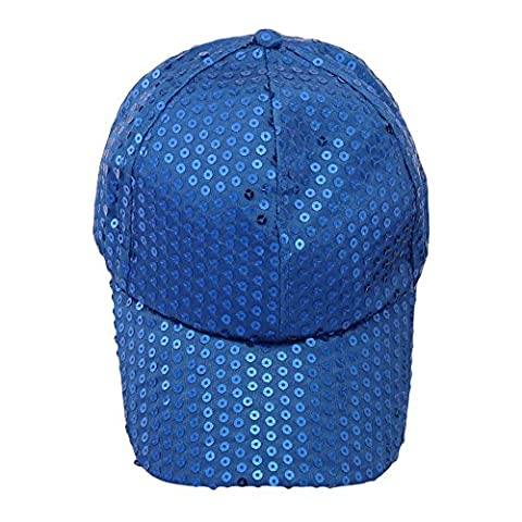 Fulltime(TM) Unisex Sequins Classic Adjustable Baseball Caps CASUAL SPORTS LEISURE (Blue)