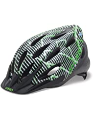 Giro Flume Youth Bike Helm, Green/Black Lines