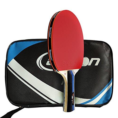 Senston Batte de tennis de table approuvée par ITTF, palette professionnelle de raquette de Pingpong avec le cas