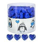 Günthart 150 Stück blau Schokoladen Herzen mit Nougatfüllung | Nougatcreme...