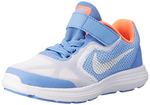 Nike Revolution 3 (PSV), Baskets Basses Fille, Multicolore