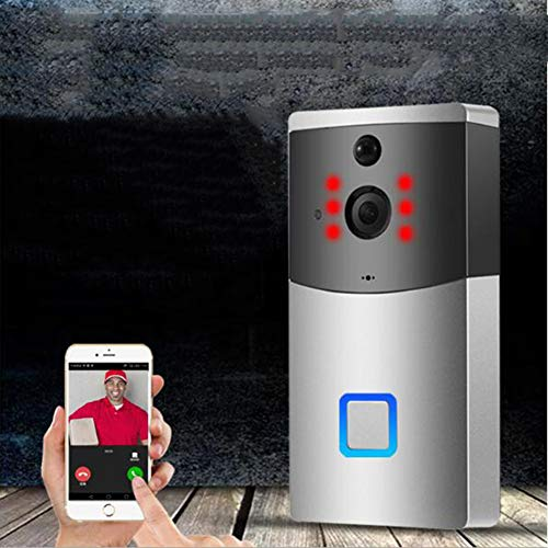 Video Doorbell - Drahtlose Video Türklingel Remote-Sprachanruf 2 720P HD Video/Gegensprechfunktion/Bewegungsmelder/WLAN/Satin Nickel - Nickel-transformator
