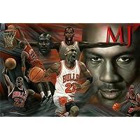 Póster de Michael Jordan Collage, diseño de Amazing 2raras Hot New 24x 36