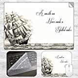 Skilled Sailor Quote Laptop Skin + Mouse...