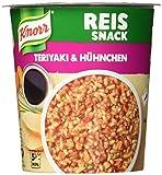 Knorr Reis Snack Teriyaki & Hühnchen Becher, 8er Pack (8 x 81 g)