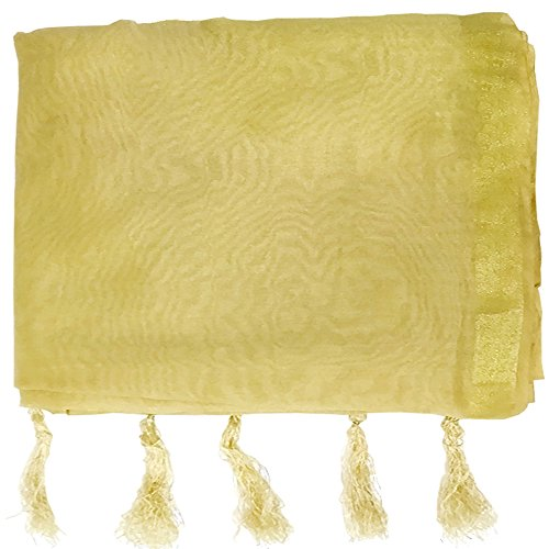 Shahi Pagdi and Safa House Men's Silk Turban Cloth (Beige, 8 Meters...