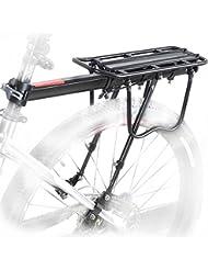Fahrrad Gepäckträger Sattelstütz für Fahrrad, MTB Aluminium Hinten Gepäckträger Mountainbike mit Reflektor