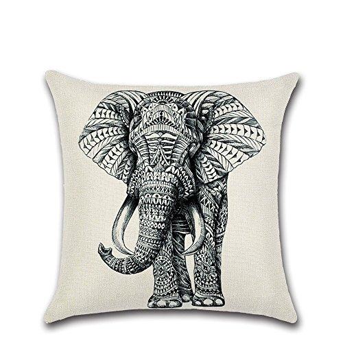 JINGXINSTORE Boceto pintado a mano, sábanas de algodón de elefantes funda de...