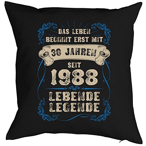 (Veri 1988 Jahrgang Zum 30. Geburtstag Geschenk für Sie und Ihn Mann Frau Deko Kissenbezug Lebende Legende Aufdruck Geboren 1988 Geb. Kissenhülle 40x40 cm :)