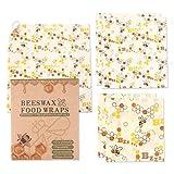 Baiwka 5 Pcs Wrap Food Wrap Réutilisables, Biodégradables Respectueux De l'environnement Durable Enveloppements Alimentaires pour Le Fromage à Sandwich Fruits Et Légumes à Conserver Frais