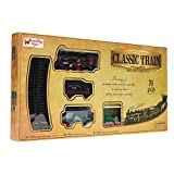 #7: Wembley Classic Steam Engine Train set - 71 pieces with Train Station & Assorted Railway Signs
