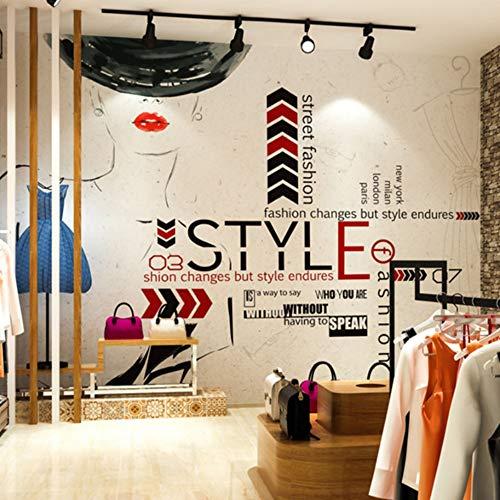 CFLEGEND Retro Damenbekleidungsgeschäft Bekleidungsgeschäft Tapete Studio Hintergrund Wandpapier...