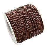 L'attrape-rêve - Cordoncino marrone scuro in cotone cerato, spessore: 1mm, Lunghezza: 5Metri